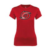 Ladies Syntrel Performance Red Tee-Cyclone O