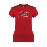 Ladies Syntrel Performance Red Tee-Grandma