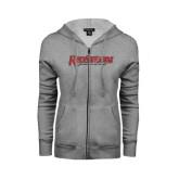 ENZA Ladies Grey Fleece Full Zip Hoodie-RedStorm