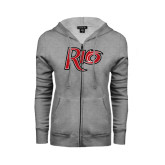 ENZA Ladies Grey Fleece Full Zip Hoodie-Rio