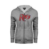 ENZA Ladies Grey Fleece Full Zip Hoodie-Rio