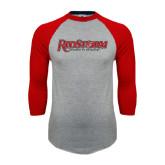 Grey/Red Raglan Baseball T Shirt-RedStorm