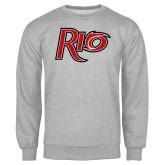 Grey Fleece Crew-Rio