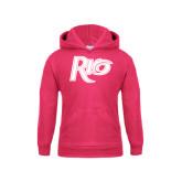 Youth Raspberry Fleece Hoodie-Rio