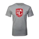 Grey T Shirt-Shield Logo