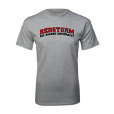 Grey T Shirt-Arched RedStorm Top