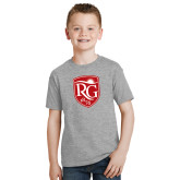 Youth Grey T-Shirt-Shield Logo