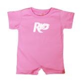 Bubble Gum Pink Infant Romper-Rio