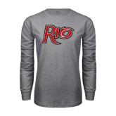 Grey Long Sleeve T Shirt-Rio Distressed