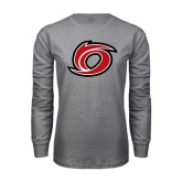 Grey Long Sleeve T Shirt-Cyclone O