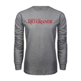 Grey Long Sleeve T Shirt-Institutional Mark
