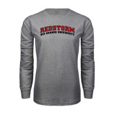 Grey Long Sleeve T Shirt-Arched RedStorm Top