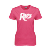 Ladies Fuchsia T Shirt-Rio