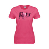 Ladies Fuchsia T Shirt-Rio Foil