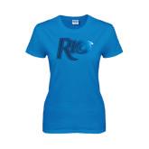 Ladies Sapphire T Shirt-Rio Foil