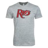 Next Level SoftStyle Heather Grey T Shirt-Rio