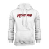 White Fleece Hood-RedStorm