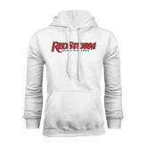 White Fleece Hoodie-RedStorm