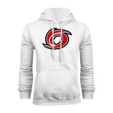 White Fleece Hoodie-Cyclone O