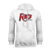 White Fleece Hoodie-Track & Field