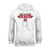 White Fleece Hoodie-Banner Track & Field