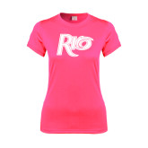 Ladies Performance Hot Pink Tee-Rio