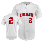 Replica White Adult Baseball Jersey-#2