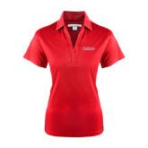 Ladies Red Performance Fine Jacquard Polo-RedStorm