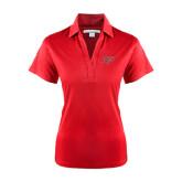 Ladies Red Performance Fine Jacquard Polo-Rio