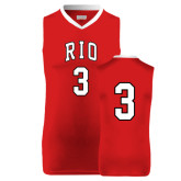 Replica Red Adult Basketball Jersey-#3