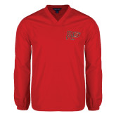 V Neck Red Raglan Windshirt-Rio