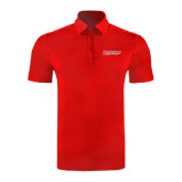 Red Horizontal Textured Polo-RedStorm