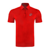 Red Horizontal Textured Polo-Cyclone O