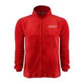 Fleece Full Zip Red Jacket-RedStorm