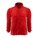 Fleece Full Zip Red Jacket-Rio