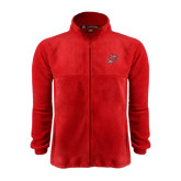 Fleece Full Zip Red Jacket-Cyclone O