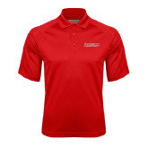 Red Textured Saddle Shoulder Polo-RedStorm