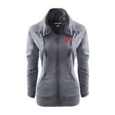 Ladies Sport Wick Stretch Full Zip Charcoal Jacket-Rio