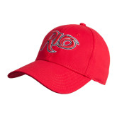 Red Heavyweight Twill Pro Style Hat-Rio