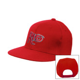 Red Flat Bill Snapback Hat-Rio
