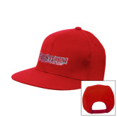 Red Flat Bill Snapback Hat-RedStorm