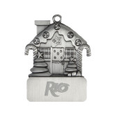 Pewter House Ornament-Rio Engraved