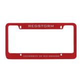 Metal Red License Plate Frame-Redstorm