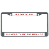 Metal License Plate Frame in Black-Redstorm