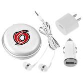3 in 1 White Audio Travel Kit-Cyclone O