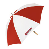 62 Inch Red/White Umbrella-RedStorm