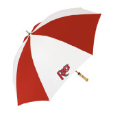 62 Inch Red/White Umbrella-Rio