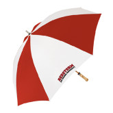 62 Inch Red/White Vented Umbrella-Arched RedStorm Top