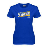 Big West Ladies Royal T Shirt-2015 Womens Soccer - UC Riverside