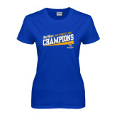 Big West Ladies Royal T Shirt-2016 Womens Golf - UC Riverside